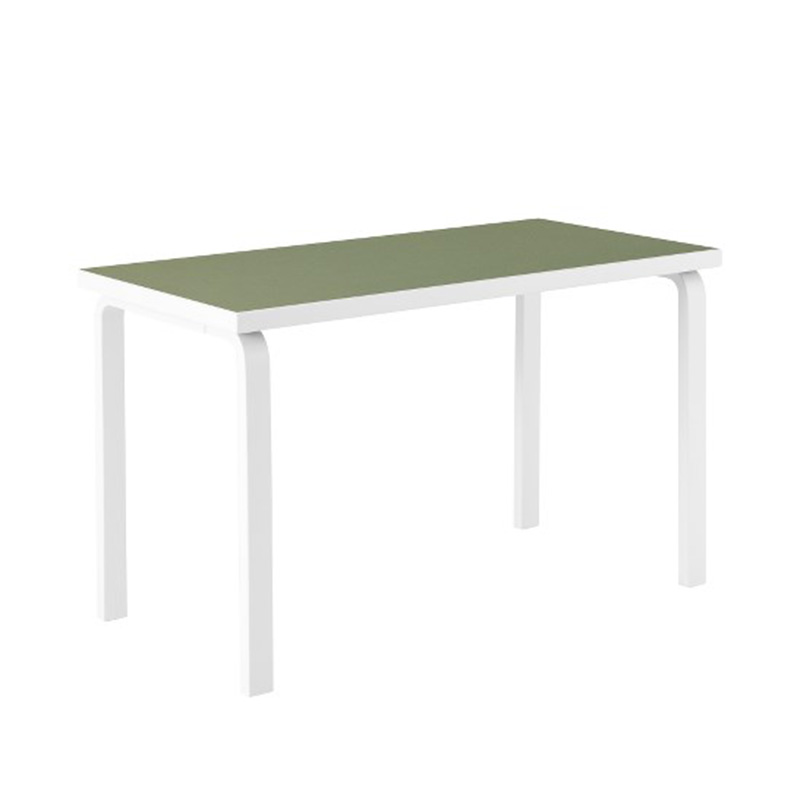 80A TABLE FINLAND100 OLV LINOLIUM /STN.WH