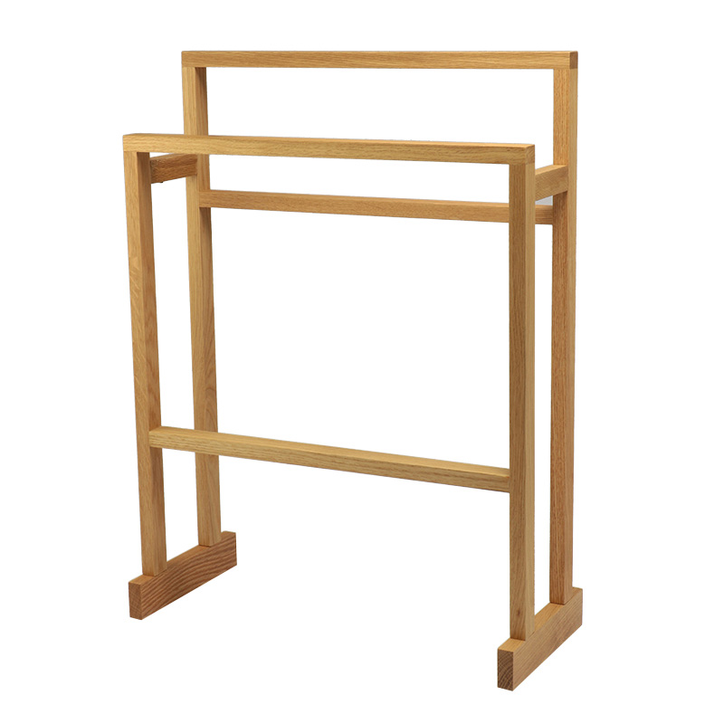 WIREWORKS MEZZA TOWEL RAIL OAK