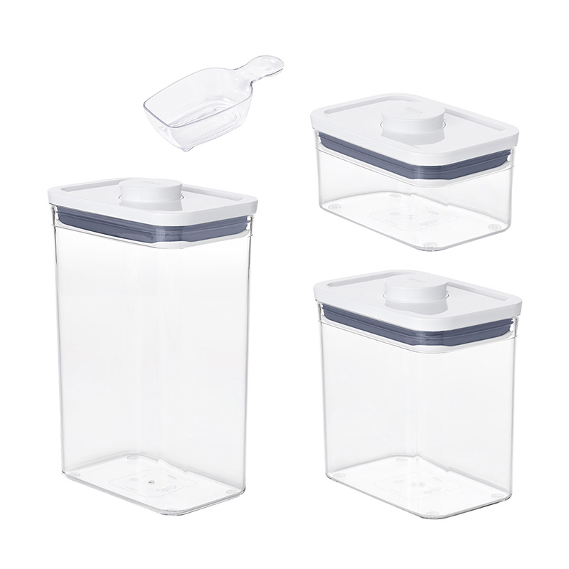 OXO CONTAINER POP2 RECTANGLE 3P W/SCOOP