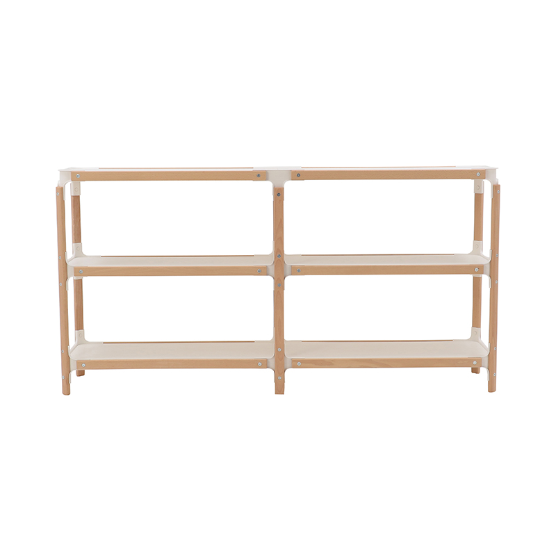 STEELWOOD SHELVING BEECH/NATURAL WH 2×2