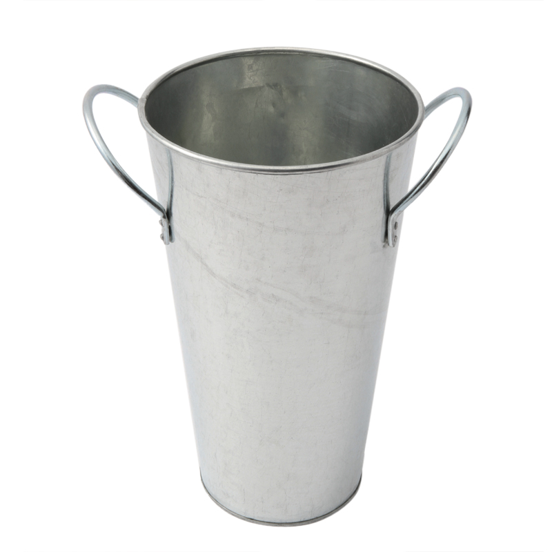 GALVANIZED FLOWER BUCKET SMALL