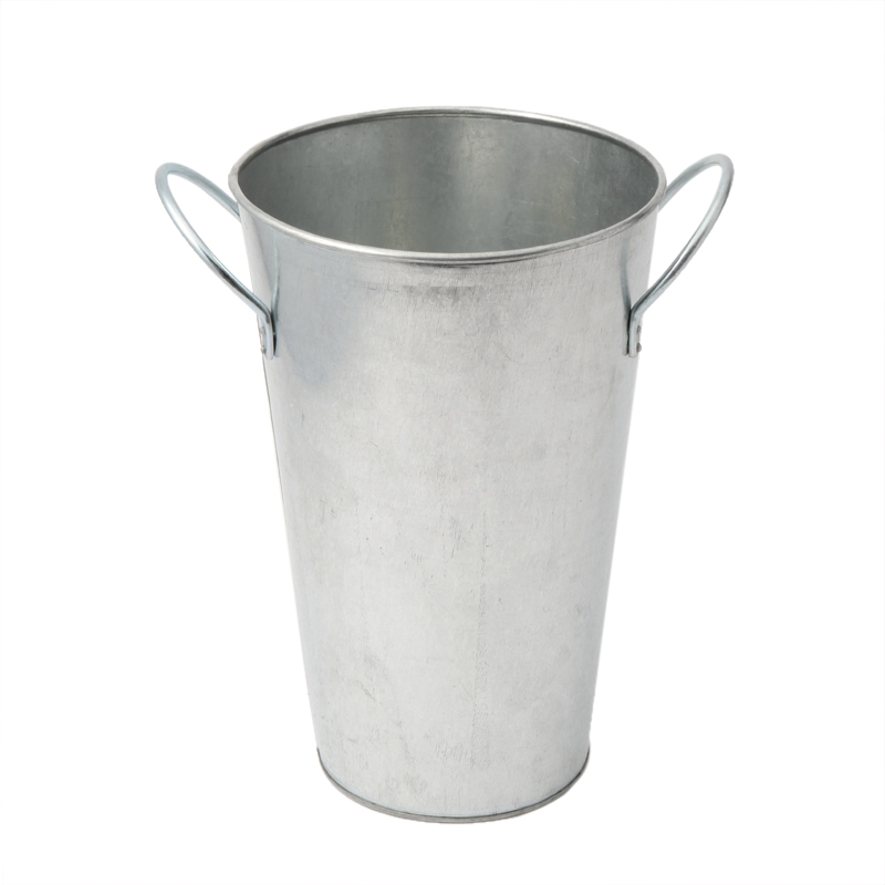 GALVANIZED FLOWER BUCKET MEDIUM