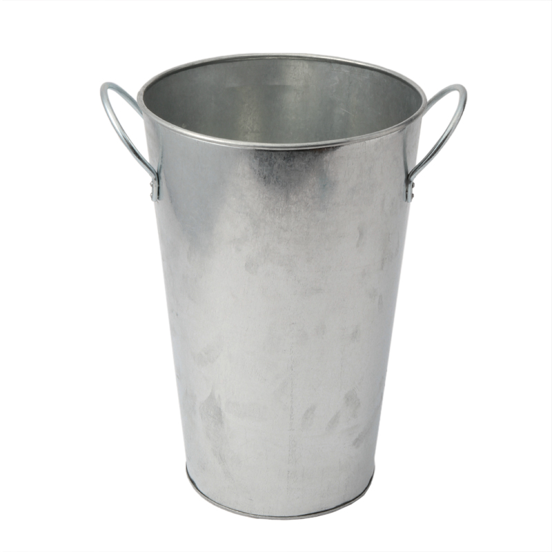 GALVANIZED FLOWER BUCKET LARGE