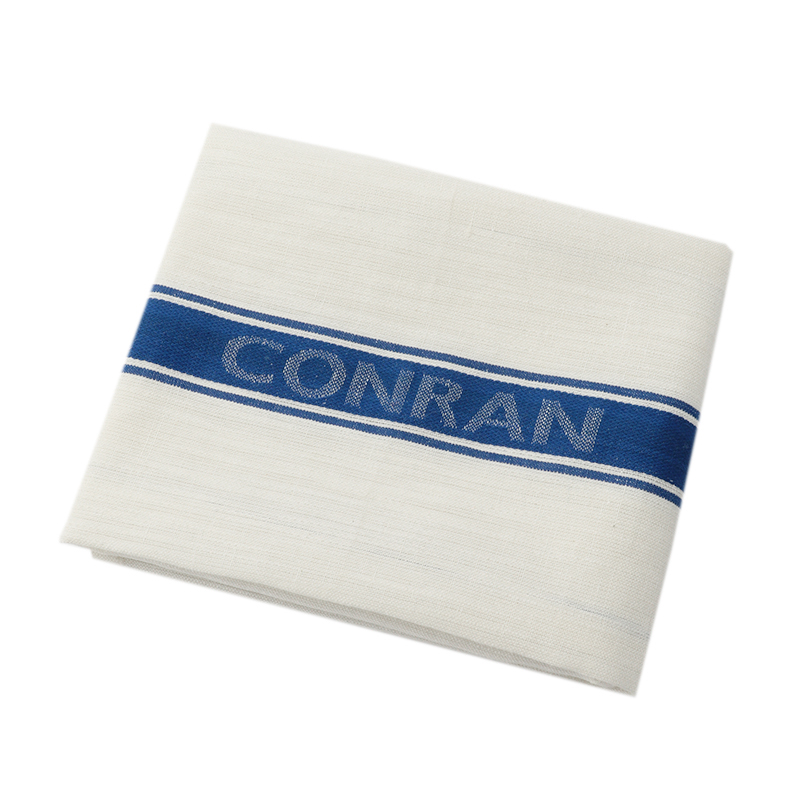 CONRAN GLASS CLOTH BLUE  LINEN / COTTON