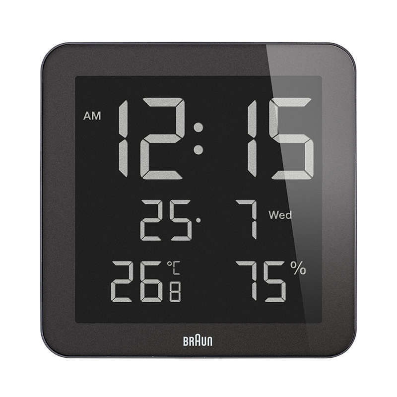 BRAUN BNC014BK DIGITAL WALL CLOCK