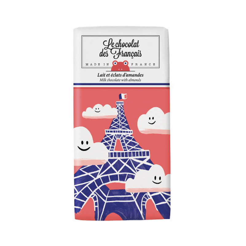 LCDF TABLET CHOCOLATE MILK ALMOND EIFFEL