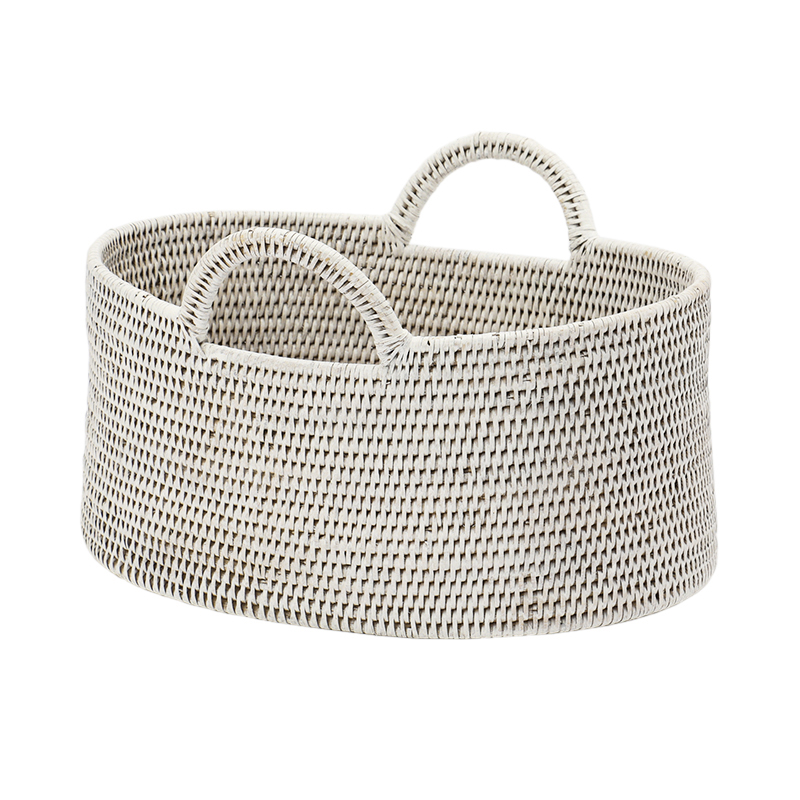 BAOLGI/OVAL BASKETS WITH HANDLES WHITE S
