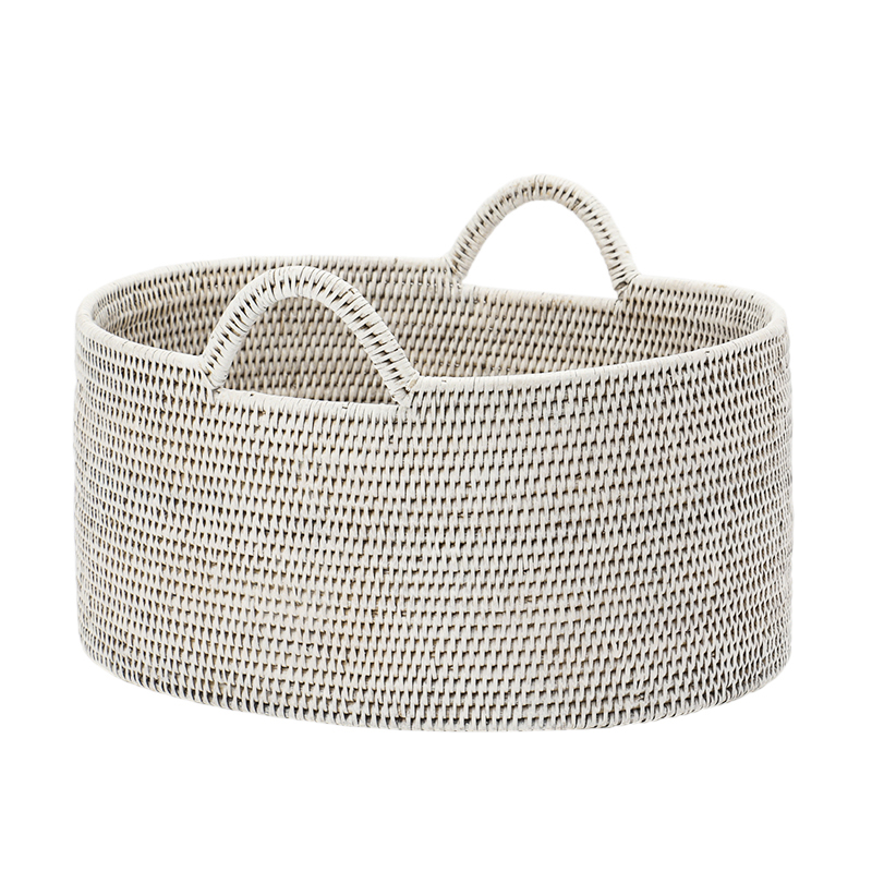 BAOLGI/OVAL BASKETS WITH HANDLES WHITE M