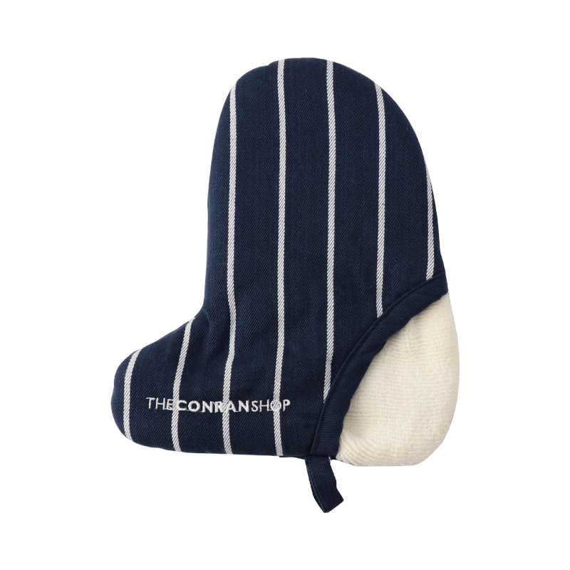 BUTCHER STRIPE MINI MITTEN NAVY