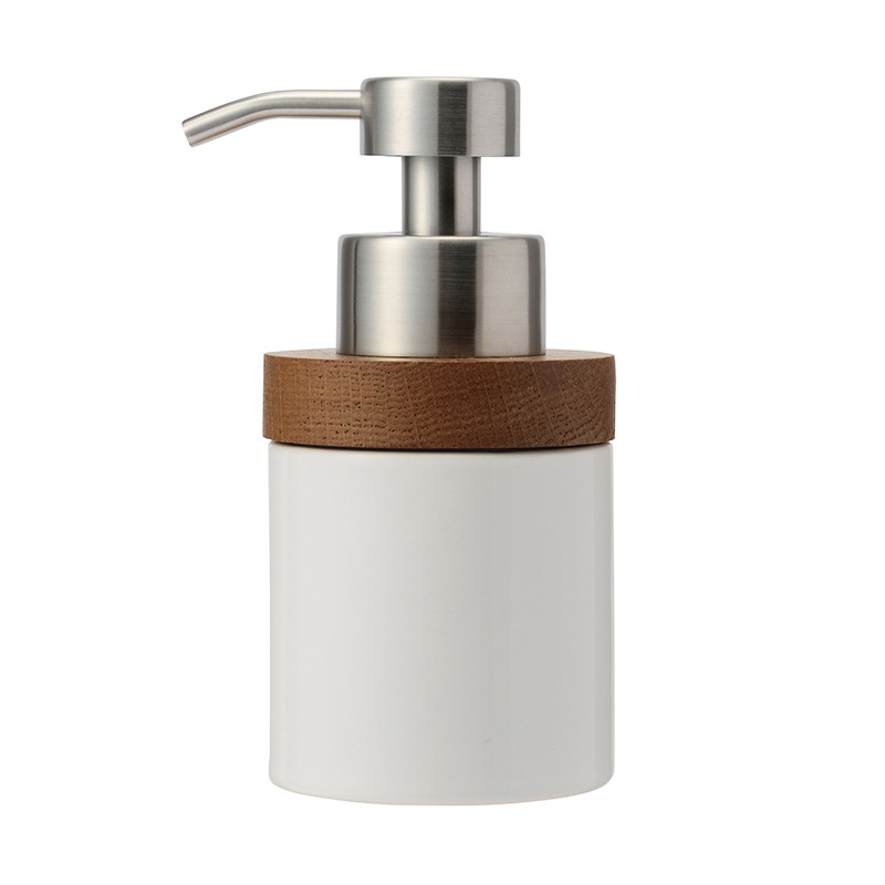 OAK CERAMIC SOAP DISPENSER BUBBLE