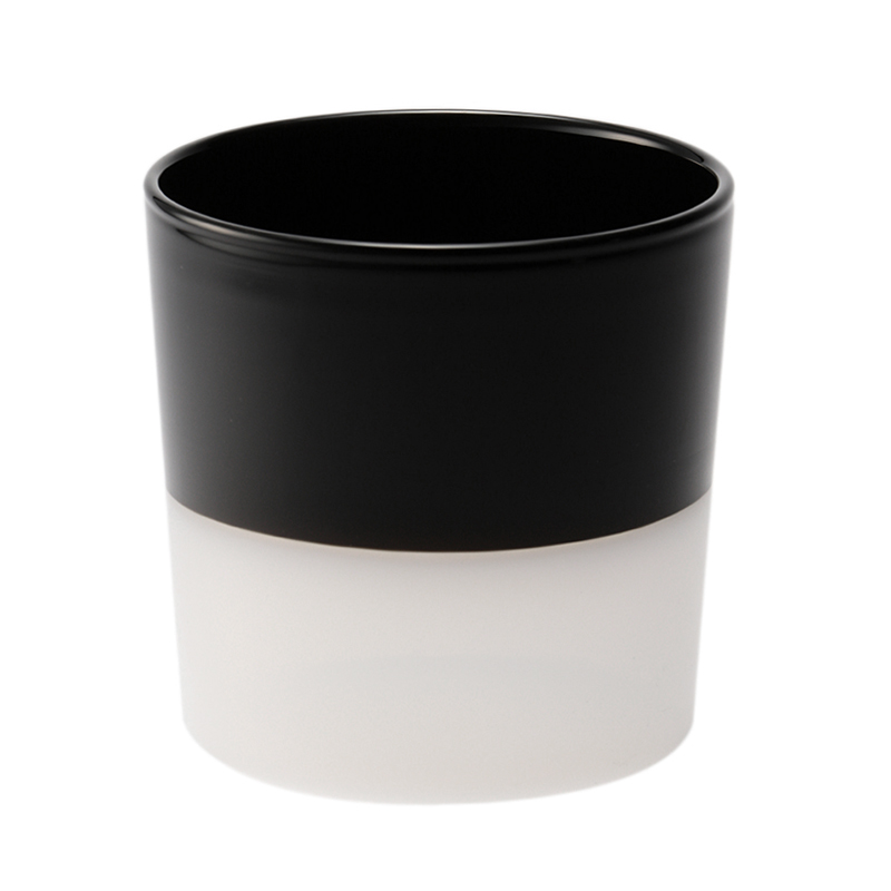 WATER GLASS WHITE BOTTOM/BLACK