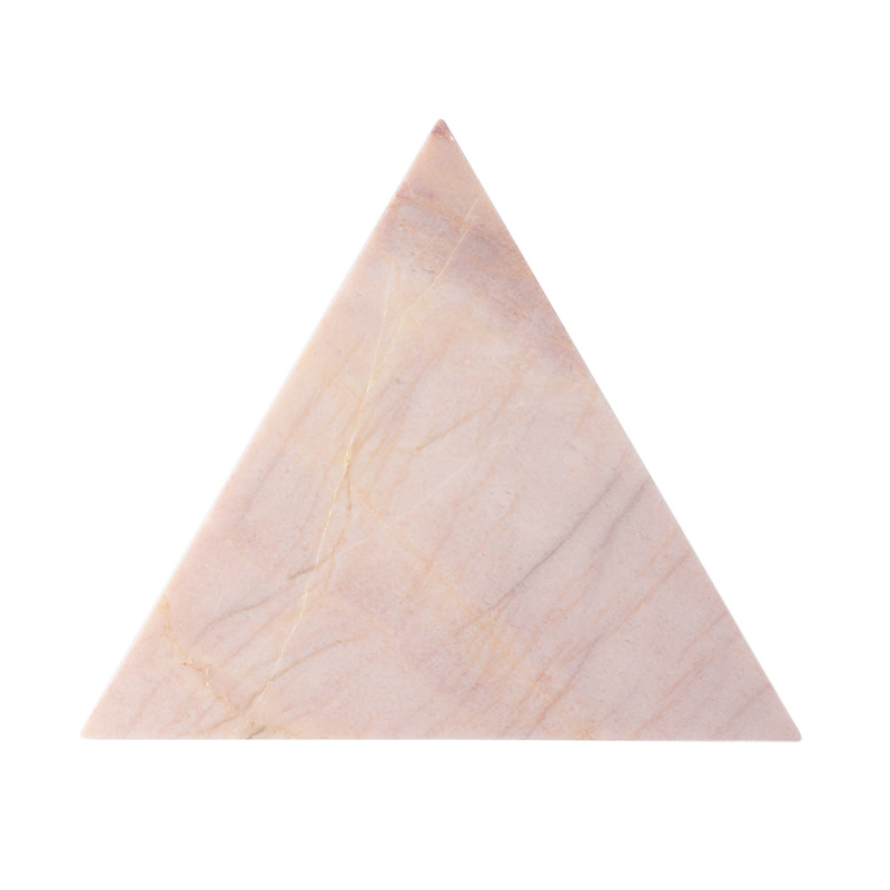 PINK MARBLE TRIANGLE BOARD 20CM
