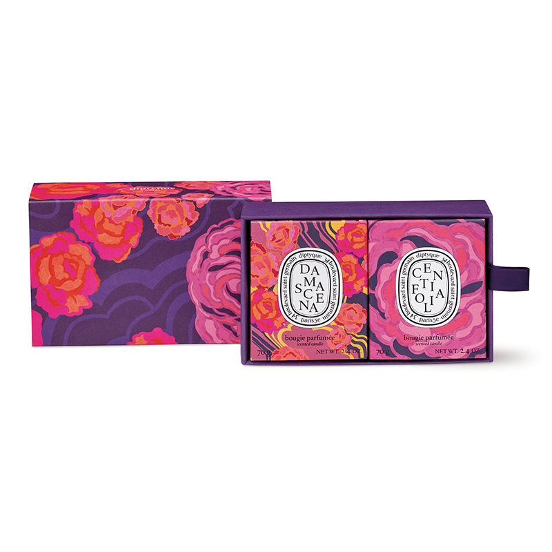 DIPTYQUE 2019 CENTIFOLIA&DAMASCENA CANDLE SET LIMITED EDITION