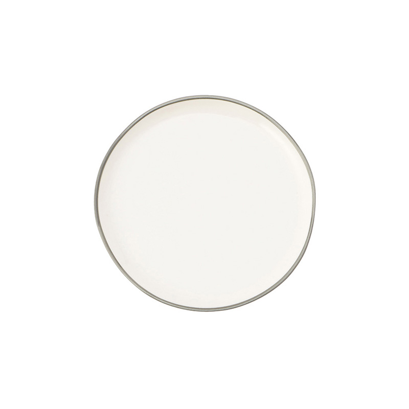 ABBESSES PLATE GREY 12CM
