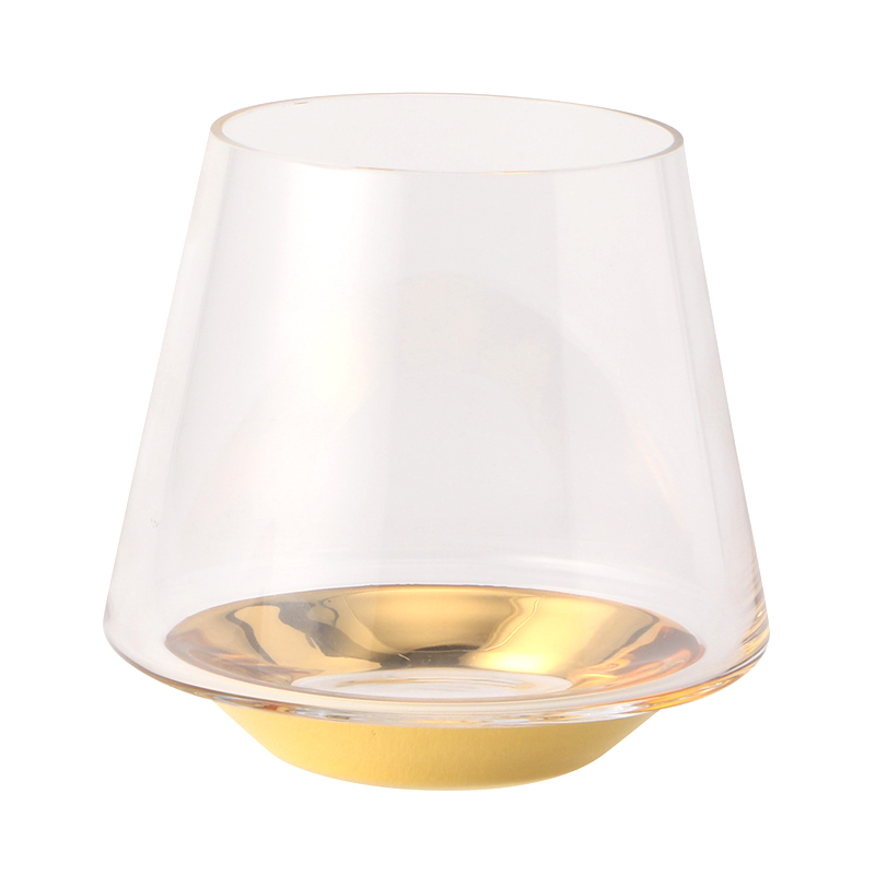 LSA SPACE WATER/WINE GLASS GOLD 430ML