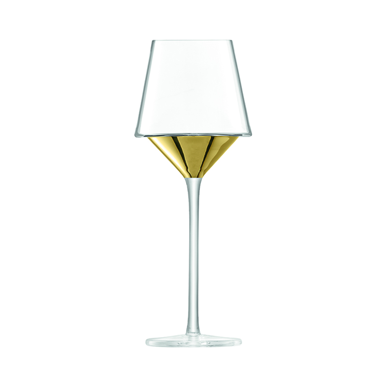 LSA SPACE WINE GLASS GOLD 350ML