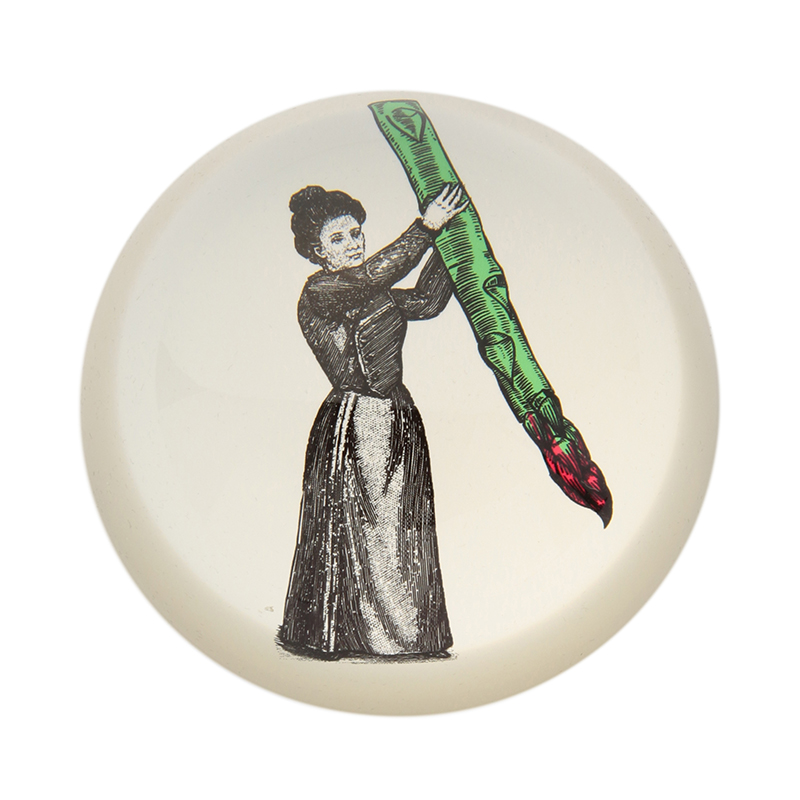 PAPERWEIGHT MISS ASPARAGUS