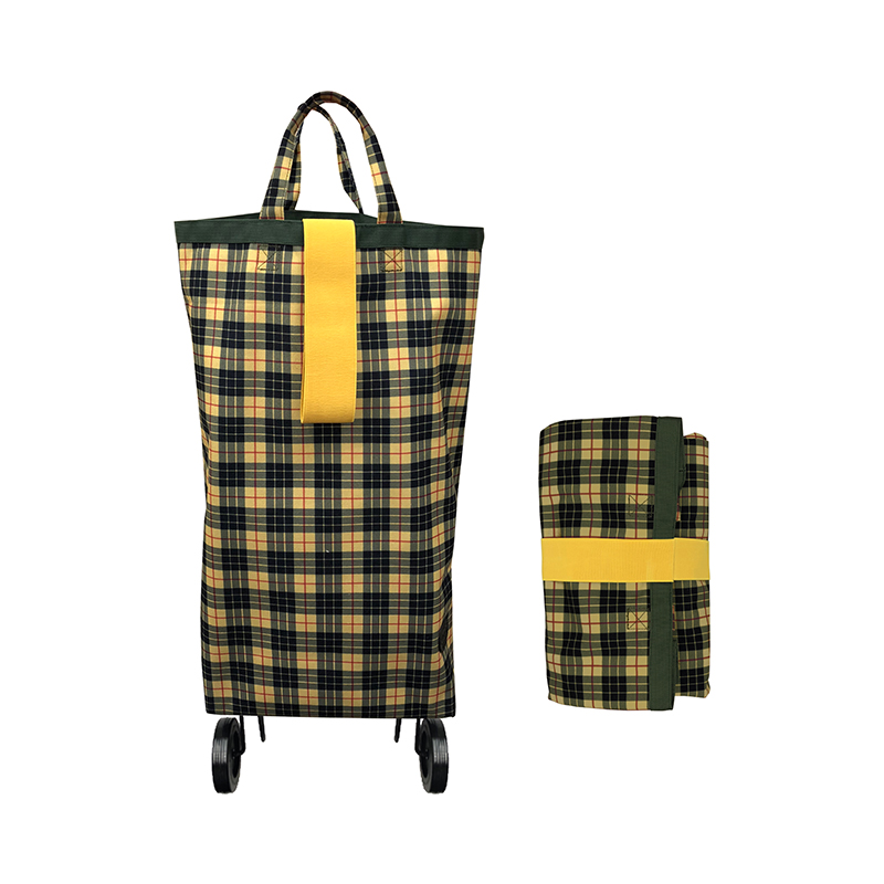 PERIGOT/CASTER BAG CANVAS TARTAN GREEN