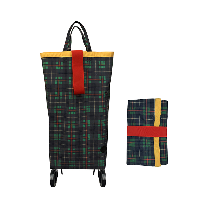 PERIGOT/CASTER BAG CANVAS TARTAN YELLOW