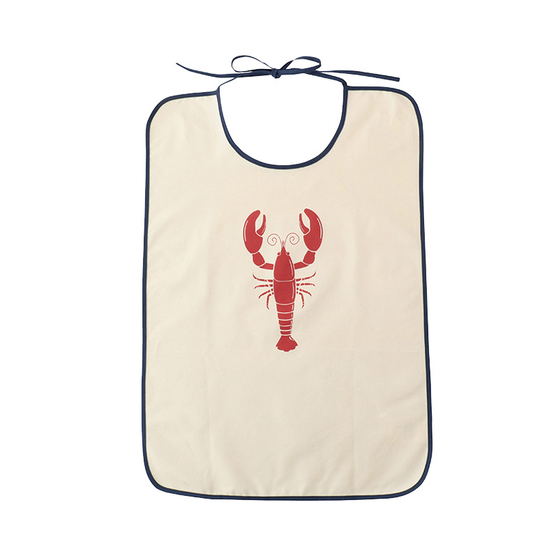TISSAGE DE L'OUEST BIB SHELLFISH LOBSTER