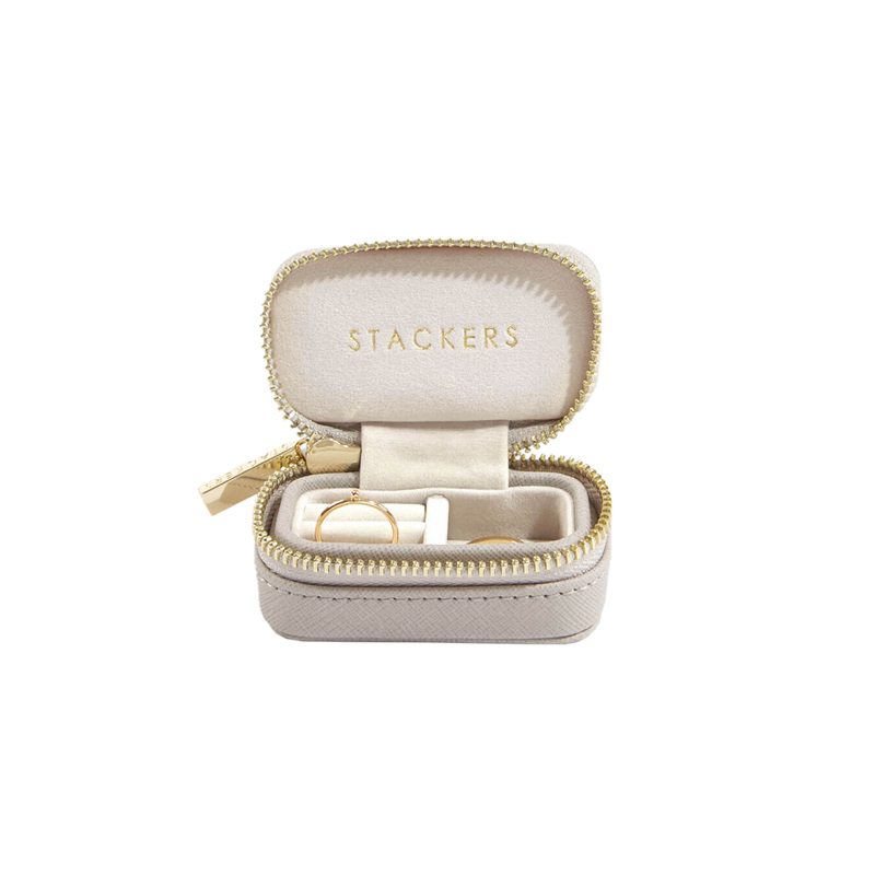 STACKERS CLASSIC TRAVEL JEWELRY BOX TAUPE SMALL